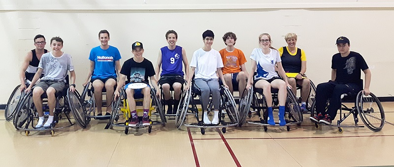 Ten people took part in the province's first wheelchair ultimate session last month.
