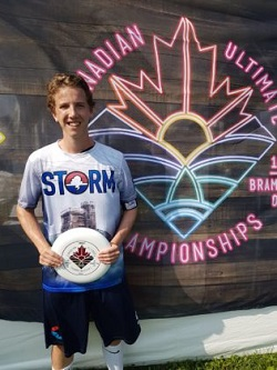 Cameron Penney at the 2018 Canadian Ultimate Championship.