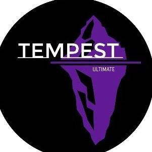 Logo for Tempest, the women's competitive ultimate frisbee travelling team in Newfoundland and Labrador.