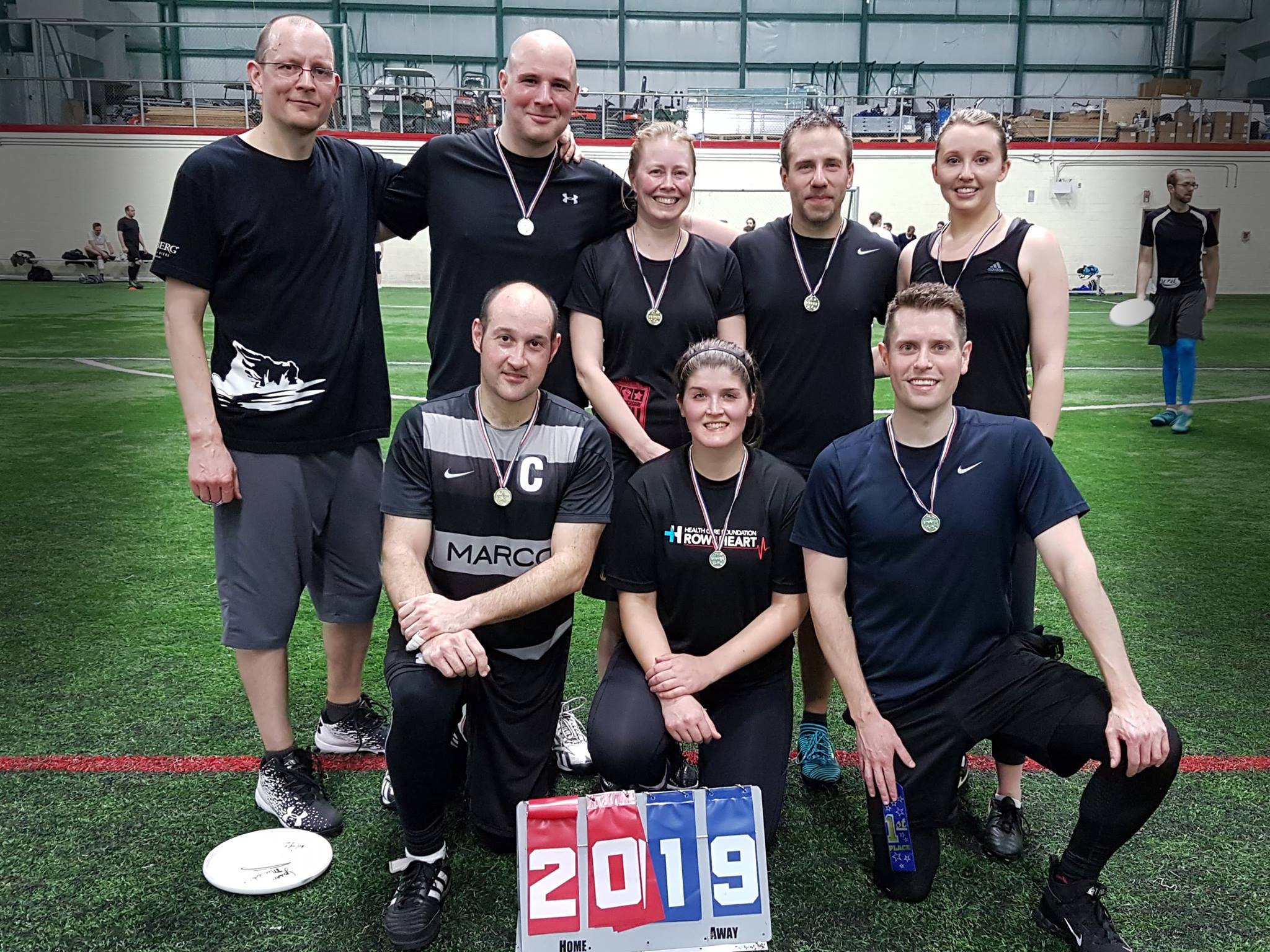 Team Buddy Wasisgame and the Other Handlers won Mile Zero Ultimate's recent toque league.