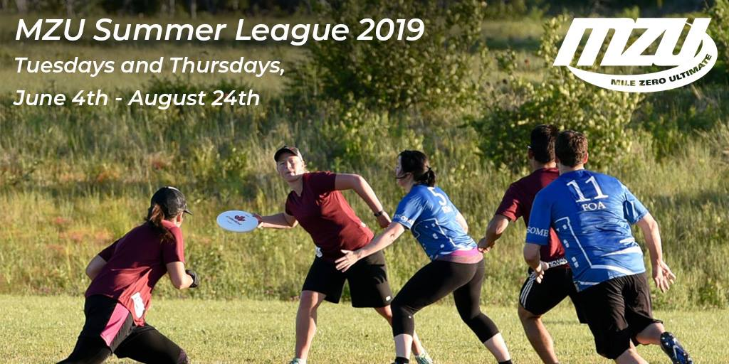 Registration for Mile Zero Ultimate's summer league is now open.