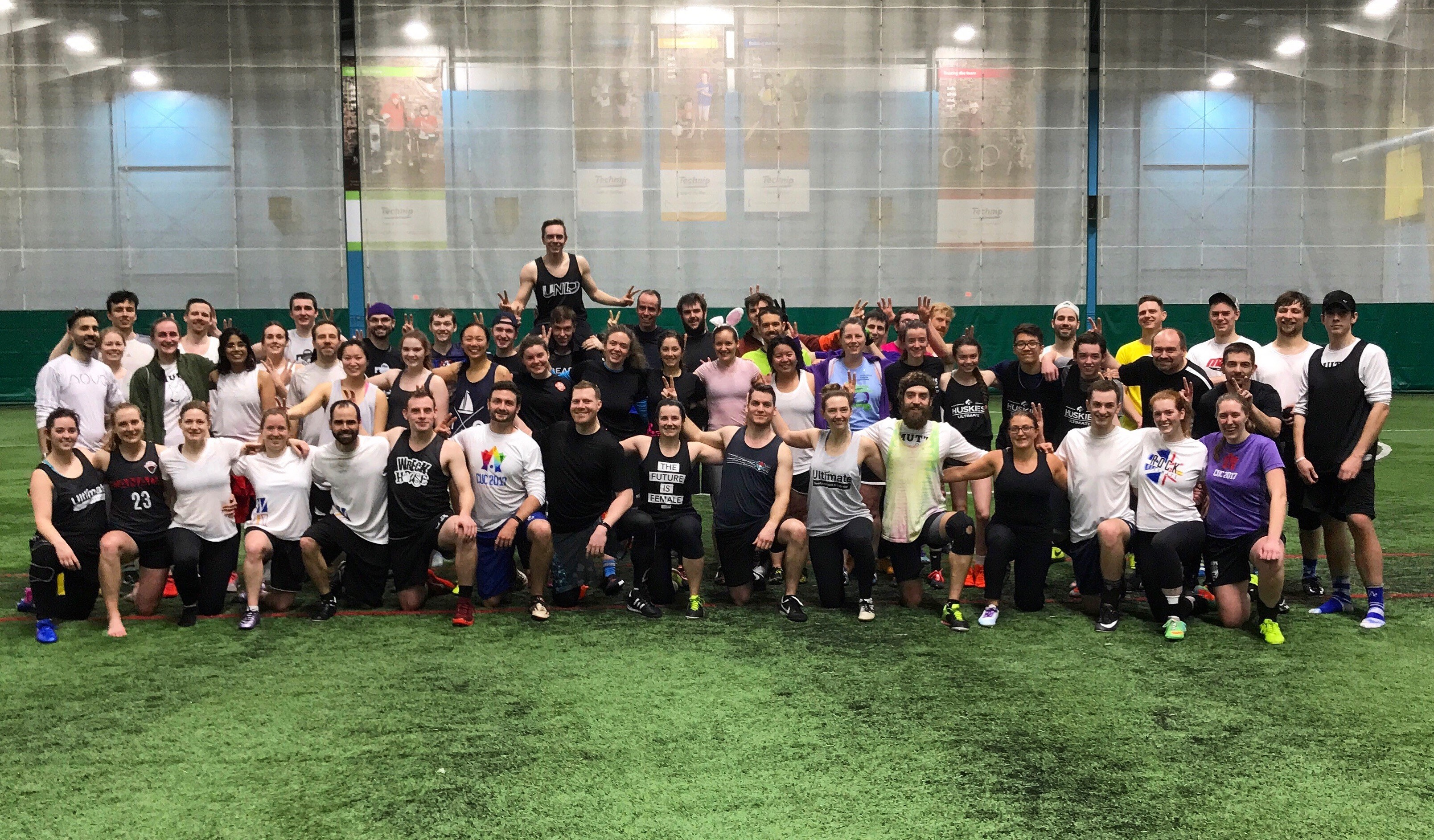 Participants in Ultimate NL's first 4-on-4 tournament.