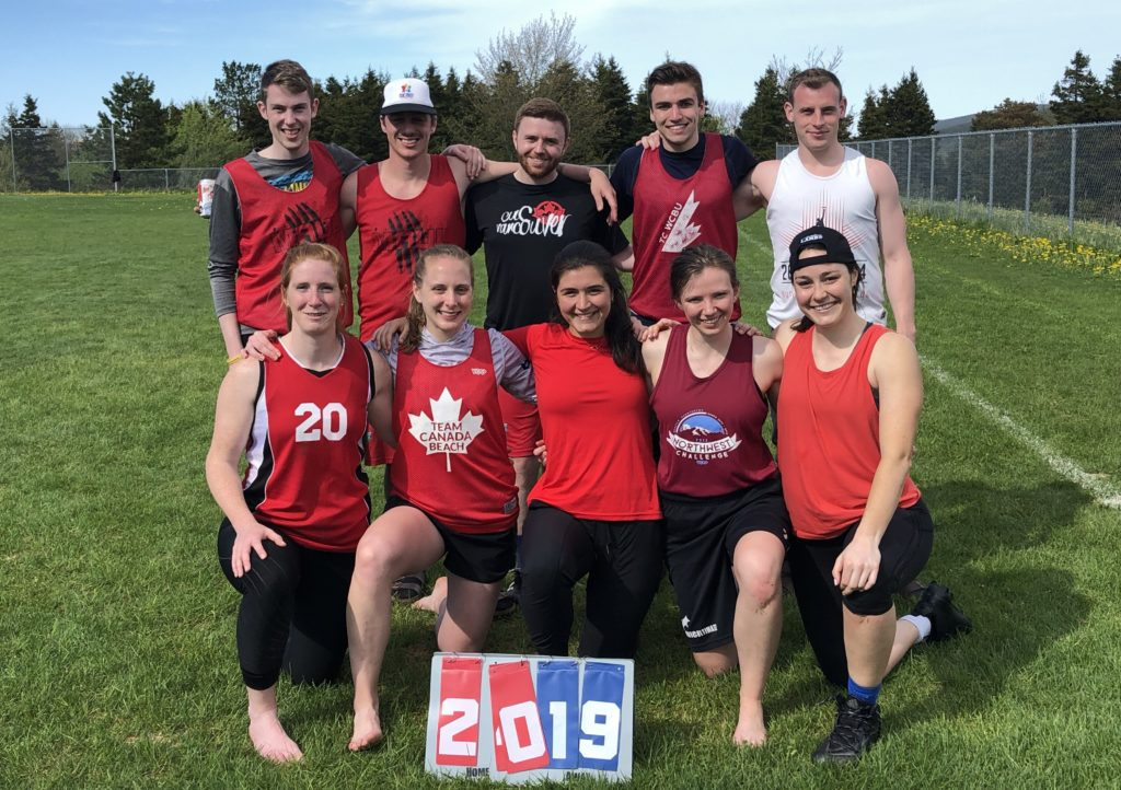 A team picture of Flood Watch at Ultimate Newfoundland and Labrador's first Elimin8s tournament.