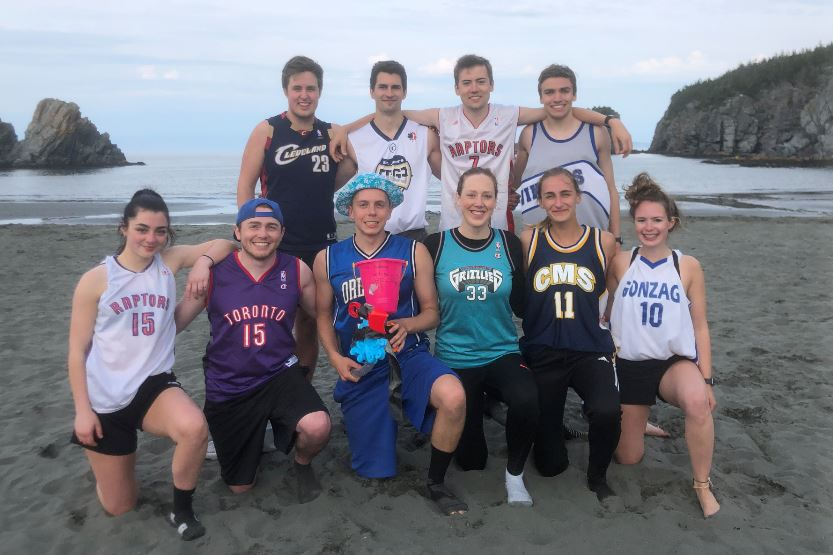 Team Nighthawks are pictured with the trophy for the 2019 Salmon Cove Sands Beach Ultimate Tournament.