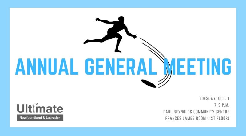 A promotional image for Ultimate Newfoundland and Labrador's annual general meeting.