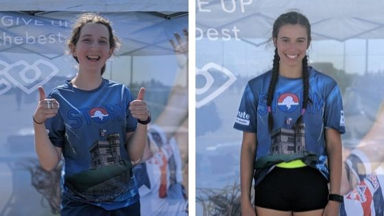 Ella Banfield, left, and Shae LeDevehat were named all-stars of the junior women's and open teams at the Canadian Ultimate Championships in 2019.