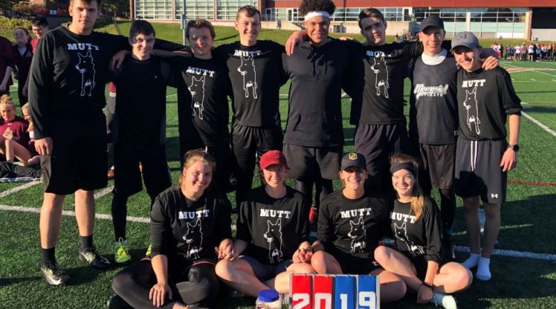A team photo featuring the first mixed team for the Memorial Ultimate Touring Team, or MUTT.