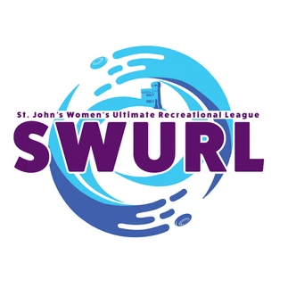 The logo for the St. John's Women's Ultimate Recreation League.