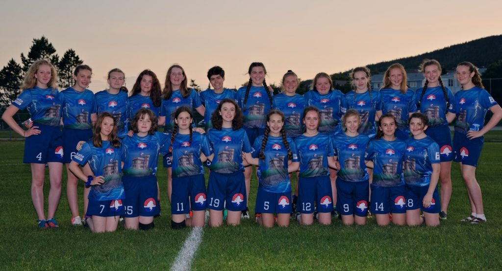 A team picture of the 2019 junior women's Storm team.