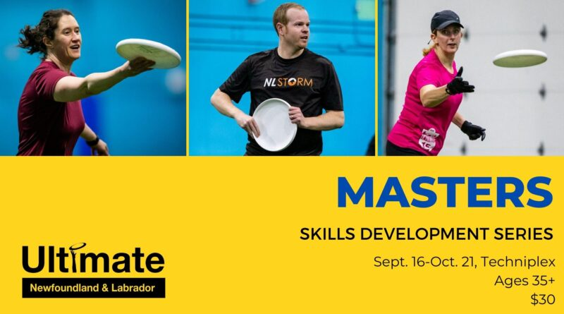 A promotional image for Ultimate Newfoundland and Labrador's masters skills development series.